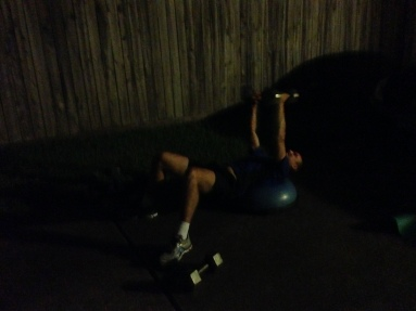 Bosu chest flies with dumbells - Mobile Personal Training - Spring Texas and The Woodlands - Mobile Personal Training - Spring Texas and The Woodlands
