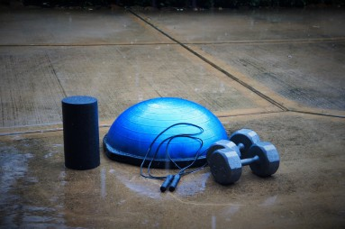 Foam roller, dumbells, jump rope and Bsu ball - Mobile Personal Training - Spring Texas and The Woodlands